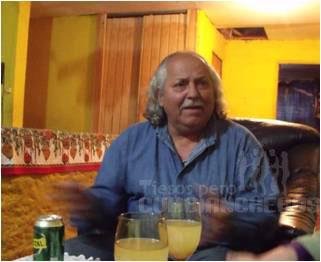 "Willy ""Agüita"" Carraset en su casa, Coquimbo 2010."