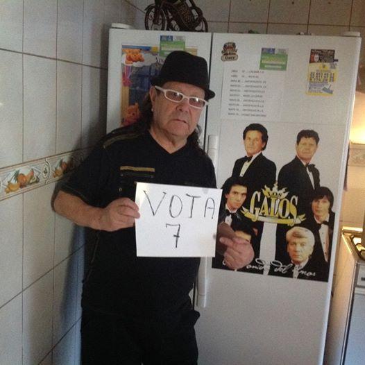 """""""Vota 7"""" SCD, Campaña de Leo Núñez para la Sociedad del Derecho de Autor. Fuente: https://www.facebook.com/leo.nunez.562"""
