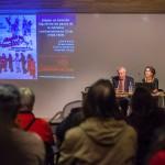 """De izquierda a derecha, Sergio Solar, Antonia Mardones y Leonardo Núñez, en presentación de """"Hagan un Trencito"""""""