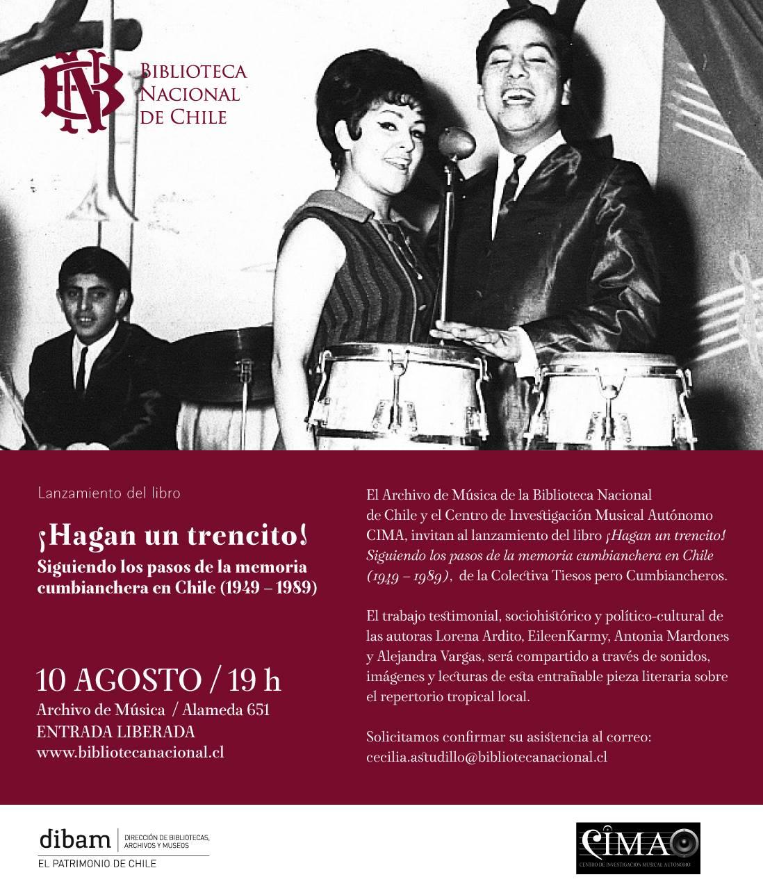 Afiche Presentación del Libro en el Archivo de Música